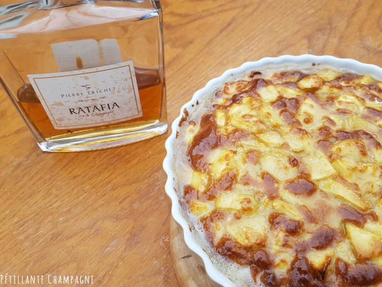 Gâteau aux pommes Ratafia Champenois Préparation