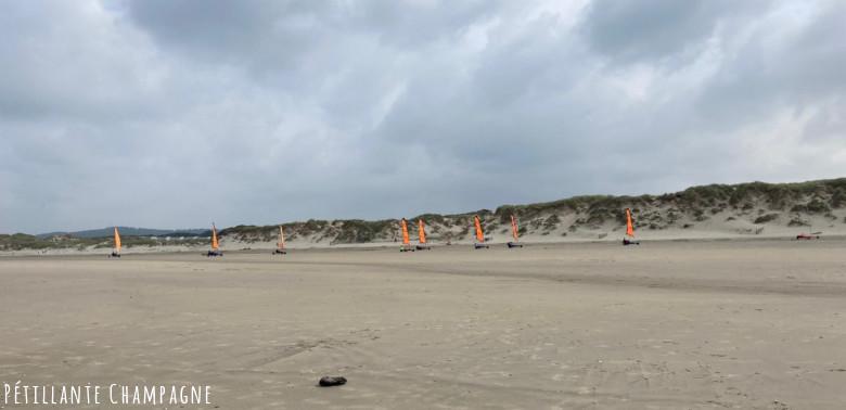Les chars à voile plage Sainte Cécile